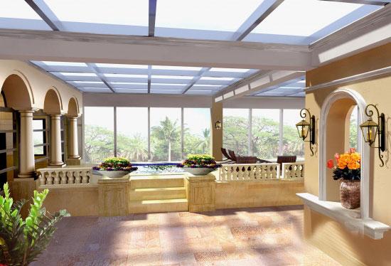 设计作品 中湘花园私人会所 阳光房效果图 吴健伟设计作品 中湘花园高清图片